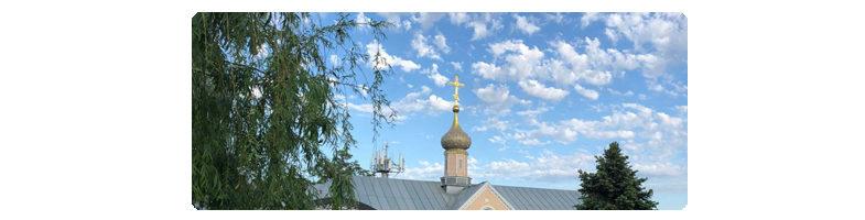 Небо над обителью в день Вознесения Господня