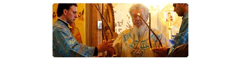 Архиерейское Богослужение в Престольный Праздник Владимирского храма Алексеево-Акатова монастыря